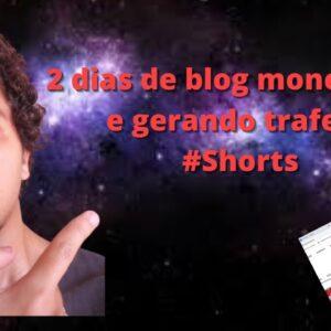 2 dias de blog monetizado e gerando trafego | Que Incrível! #Shorts