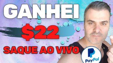 APP PAGOU $22.00 NO PAYPAL | SAQUEI AO VIVO | DINHEIRO NO PAYPAL