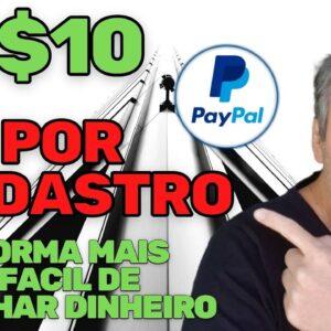 GANHE $10 POR CADASTRO MUITO FACIL | GANHAR DINHEIRO NA INTERNET