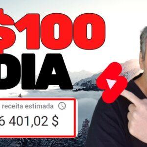 COMO GANHAR R$100 POR DIA NO YOUTUBE SHORTS EM 2021 | CANAL DARK