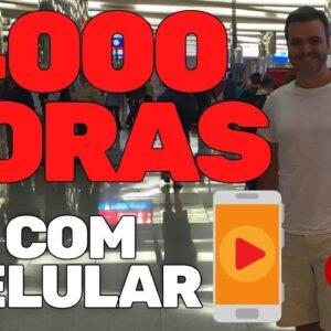 COMO CONSEGUIR 4000 HORAS NO YOUTUBE COM O CELULAR  CANAL DARK | VENDEDOR GLOBAL