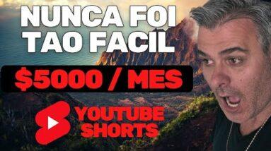 COMO GANHAR EM DOLAR COM O YOUTUBE SHORTS | O MELHOR TUTORIAL DE SHORTS DA INTERNET ATE $5000 MES