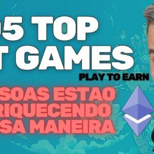 TOP 5 NFT GAMES PLAY TO EARN | PROMETE MAIS DE $150 POR DIA | VENDEDOR GLOBAL